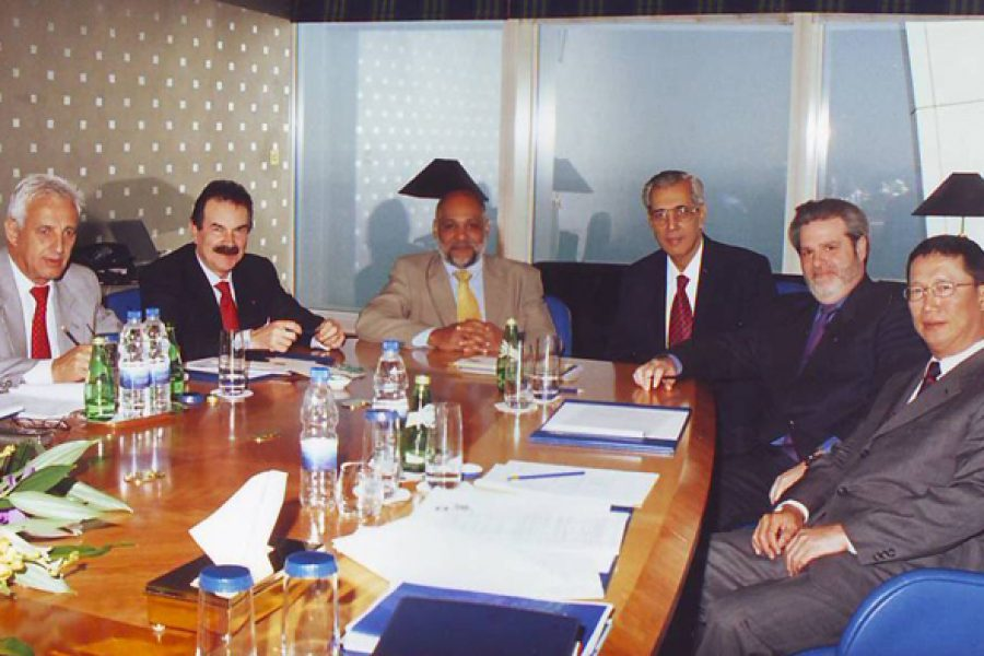 Issa With Friends And Colleagues